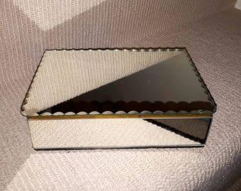 Vintage 1950's Mirrored Jewelry Box