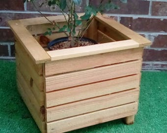Rustic Box Planter, Wood Box Planter, Outdoor Planter, Flower Box, Large Planters, Flower Planter, Large Potted Plant Holder, Porch Planter