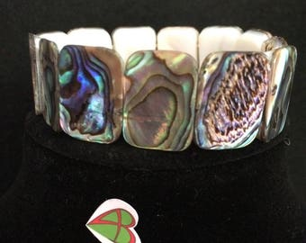 Paua mother of pearl bracelet