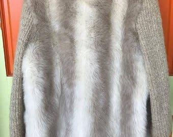 70's Faux Fur Knit Coat
