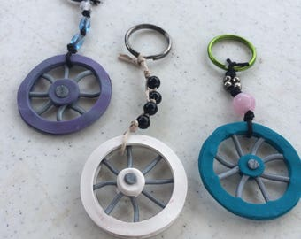 Bicycle Wheel Keychains
