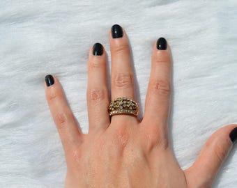 A Million Tiny Diamonds Gold Ring