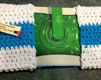 Handmade Crocheted Swiffer Re Useable Cotton Mop Head