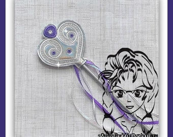 CHILD Purple Princess 1st Crown ~ Pencil Topper & WaND ~ In the Hoop ~ Downloadable DiGiTaL Machine Embroidery Design by Carrie