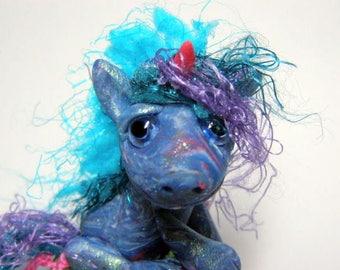 "Spring Unicorn Miniature Trollfling Troll doll ""Shala"" by Amber Matthies"