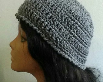 Gray Messy Bun Hat - Grey Hat - Mom Hat - Teen Girl Hat - Ponytail Hat - Neutral Hat - Staple Color Hat - Ready to Ship