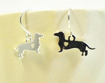 Dachshund Puppy Dog Earrings Heinie and Weinie  - Doxie Earrings - Doxie Jewelry - Dachshund Earrings - Dog Jewelry - Dachshund Jewelry