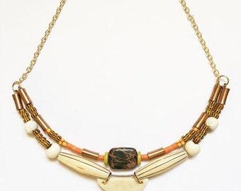 Sedona Sun / Brass Necklace / Statement Necklace