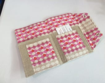 Ready to Ship Passport Cover Case- Mini In Touch Clutch for Moleskine Journals and Passports- pink scallops