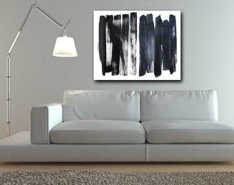 Black and White Abstract Art, abstract expressionism, custom art, modern art, black, wall art, canvas art, original art