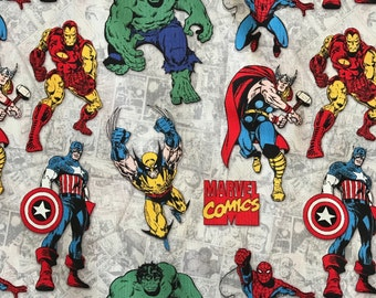 Weighted Blanket - Adult or Child - Marvel Comics Superheroes - Choose your weight (up to 15 lbs) and minky color - custom