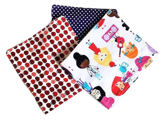 Baby Burp Cloths, Set of 3, Burp Cloth Set, Girl Burp Cloth Set, Baby Shower Gift, Infant Burp Cloth