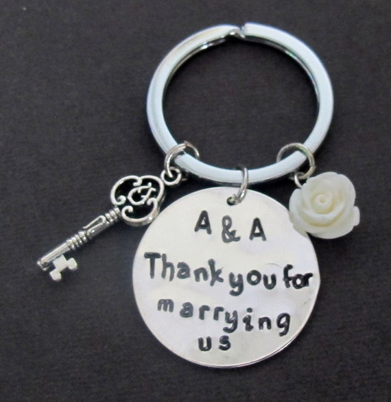 Thank you for marrying us, gift for wedding officiant, for friend ...