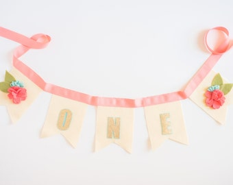 Floral Banner, Floral Bunting, Girl Birthday Bunting, Birthday Bunting, Floral Birthday, Birthday Banner, Pink Birthday Bunting