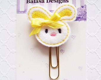 Yellow Bunny Easter Planner Clip, Bookmark, Planner Accessory, Paper Clip