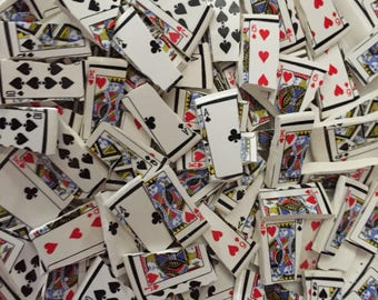 Mosaic Tiles Mix Broken Plate Art Hand Cut Pieces Supply Paying Cards Gamble Jack Queen King Ace 100
