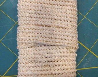 pre made size 10 romanian point lace cord cream