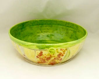 Large Pasta Serving bowl, Thanksgiving Decor Ceramic Salad Greenery Bowl, Large Family Size Bowl, Kitchen Dinnerware -  Colorado Pottery 736
