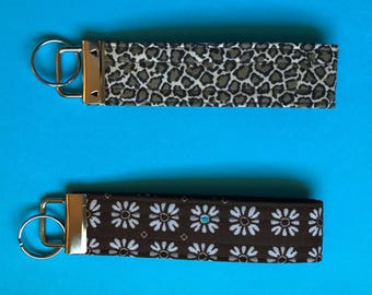 Fabric Key Fob - Fabric Key Chain - Wristlet Key Fob - Key Fob Wristlet - Key Chain - Customer Appreciation Card Fob - New Driver Gift Idea