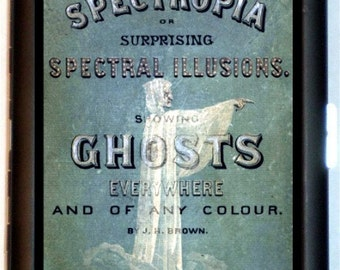 Spectropia 1860's Ghost Cigarette Case Wallet Business Card Case Victorian Book Cover