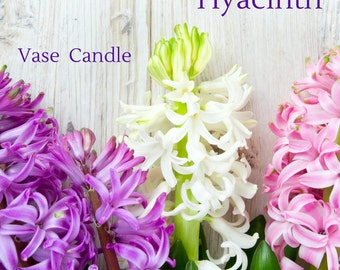 Hyacinth Vase Candle 2.8 oz Wax Melts - Highly Scented, Hand Poured Fresh, Premium Paraffin Soy Blend Wax Tarts, 25 Hour, Color Free
