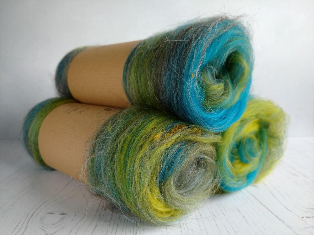 Carded batt spinning fiber felting merino wool art for Fiber batt