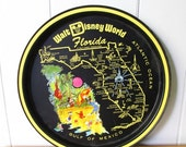 THINKSPRING vintage Disney World Florida tray