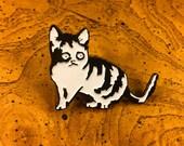 Limited Addition Enamel Cat Pin #2 by Jason Edward Davis