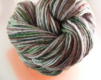 SALE... Was 8.50... Now 6.00...DRAGONFLY...handspun, handpainted wool/mohair yarn...4oz...180yd