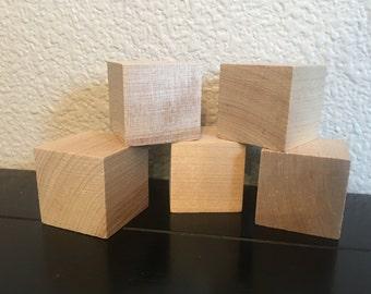 1.5 inch wood blocks unfinished set of 35