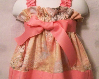 Baby Pastel with Daisies Swing Dresses, Baby Girls Dresses, Baby Halter Dress, Baby Shower  Gift, Made in the USA, #171