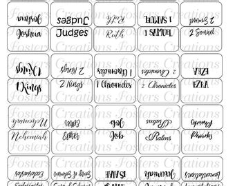 Double sided PRINTABLE bible tabs-blank background