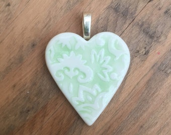 Jacquard pendant in green