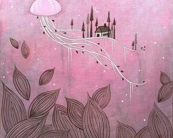 moonage daydream - original acrylic painting