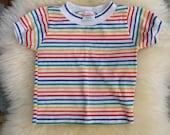 Rainbow stripe vintage healthtex tshirt 2