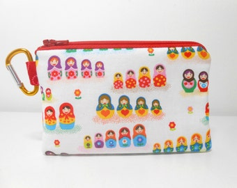 Matryoshka Nesting Dolls Coin Purse