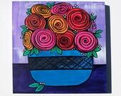 Bowl of Roses Still Life ...
