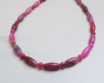 Rice and Round Crazy Lace Agate beads