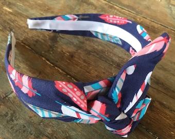 Feather Knot Tie Headband Bandanna Head Wrap Rock Fashion Headband