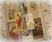 instant collection of 8 vintage holy cards holy cards u.s.a. italy and germany