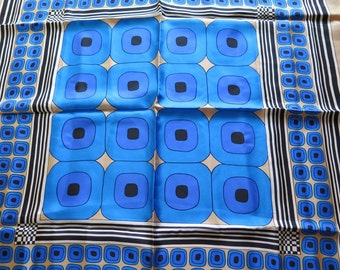 Beautiful Vintage Silk Modernist Scarf