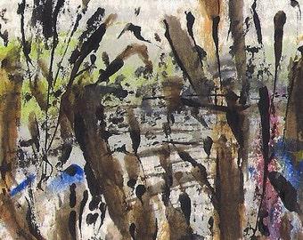 No. 40018, ACEO Art Cards Editions & Originals ATC Fantasy Landscape by NoRaHzArT