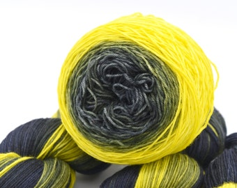 Define Grellow Gradient Hand Dyed Yarn - In Stock