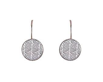 Small chevron print earrings