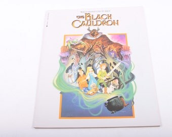 The Black Cauldron, Illustrations, Vintage, Children's, Book ~ The Pink Room ~ 161026B