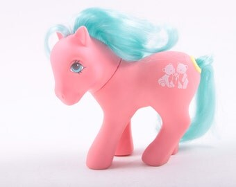 My Little Pony, Happy Tails Pony, Tossles, Pink Pony, Blue Hair, Bears Symbol, Frizzy Hair ~ The Pink Room ~ 170126