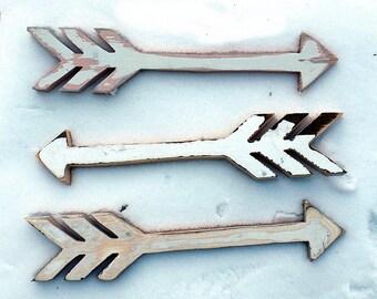 Three Arrows, Nursery Decor, Tribal Decor, Reclaimed Wood Wall Art, Boho Decor, Rustic Arrow Decor, Decorative Arrow,  Bohemian Decor,