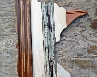 Minnesota Wall Art, State Cutout, Golden Gopher Art, Minnesota Decor, Minneapolis Art, Reclaimed Wood Wall Art Wooden Minnesota Art Boho Art