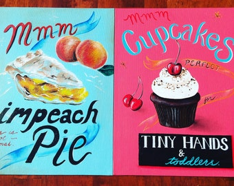 Impeach Pie Set of 2 Prints 11x14