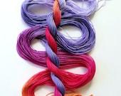 "Size 20 ""Corsage"" hand dyed thread 6 cord cordonnet tatting crochet cotton"
